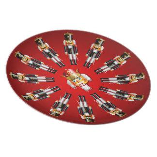 Christmas Nutcracker Army Plates