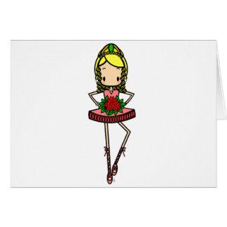 Christmas Nutcracker Ballerina Card