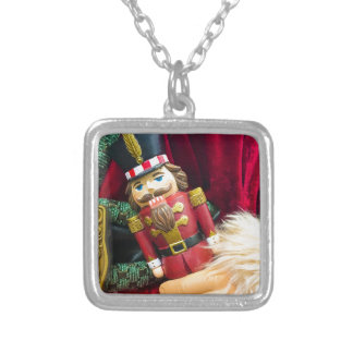 Christmas Nutcracker Silver Plated Necklace