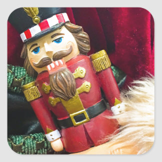 Christmas Nutcracker Square Sticker