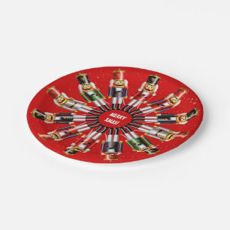 Christmas Nutcracker Toy Soldiers Paper Plate