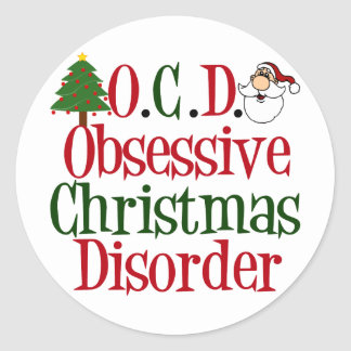 Christmas Obsession Round Sticker