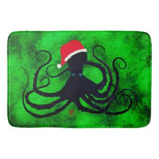 Christmas Octopus - Large Bath Mat