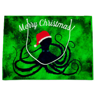 Christmas Octopus - Large Gift Bag