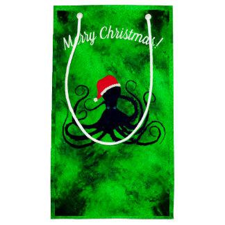 Christmas Octopus - Small Gift Bag