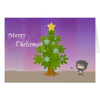 Christmas of ninja card