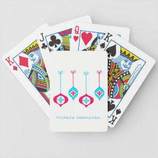 Christmas of ornamentation merry Christmas Bicycle Playing Cards