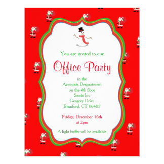Christmas Office Party Invitation Flyer