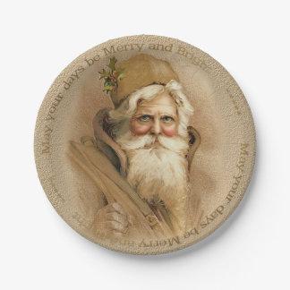 Christmas Old World Santa 2 - Porcela Paper Plates