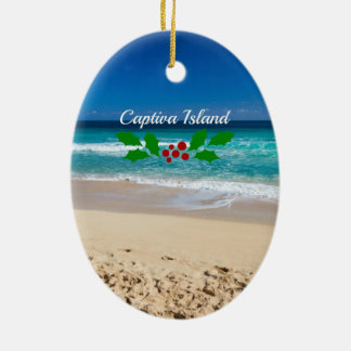 Christmas on Captiva Island, Florida Ceramic Ornament