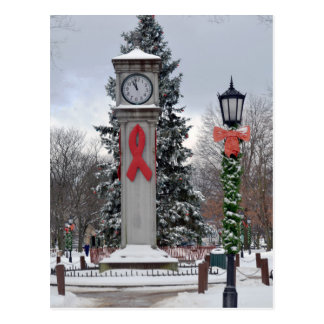 Christmas on Lux Clock Postcard
