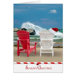 Christmas on the Beach Card
