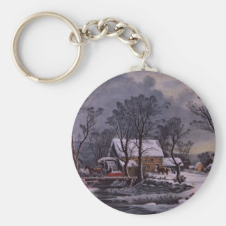 Christmas On The Farm Keychain