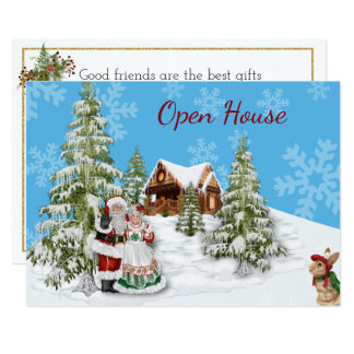 Christmas Open House Party Invitation