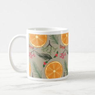 Christmas Orange Wreath Print Coffee Mug