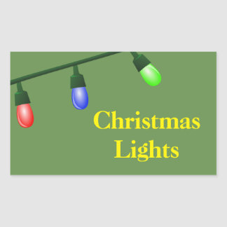 Christmas Organizing Labels - Lights