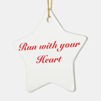 Christmas Ornament 5K for runners, Star