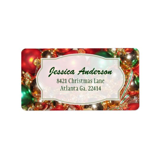 Christmas Ornament Address Stickers
