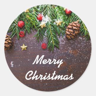 christmas-ornament classic round sticker