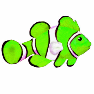 Christmas Ornament Fish Green Photo Cut Outs