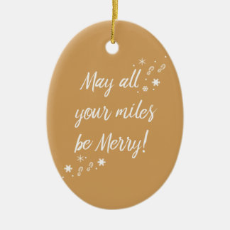 Christmas Ornament for Runners! Merry Miles 3.0