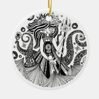 Christmas Ornament Gingerbread Sea Witch