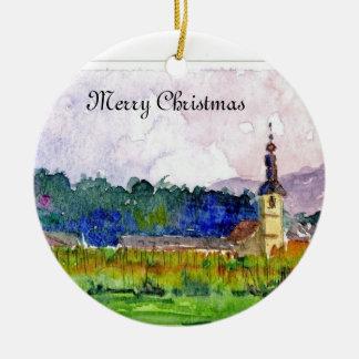 Christmas Ornament in Slovenia Church