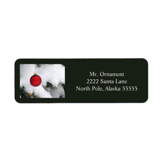 Christmas ornament label 3 2016 return address label