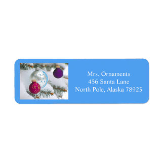 Christmas ornament label 4 2016 return address label
