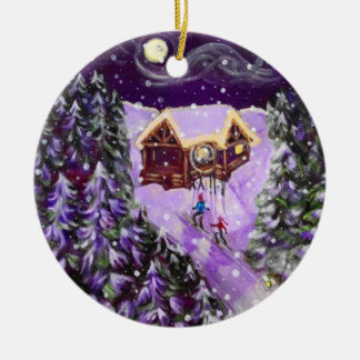 Christmas Ornament - Lantern Ski