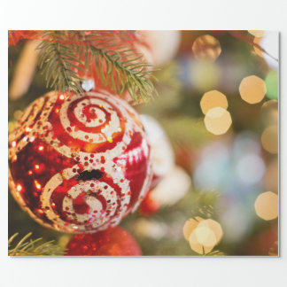 Christmas Ornament & Lights Wrapping Paper