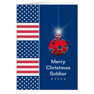 Christmas Ornament - Military Soldier - USA Greeting Card