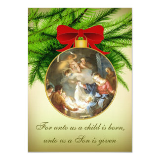 Christmas Ornament Nativity Jesus Birth Card
