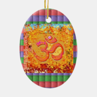 Christmas Ornament Om Mantra Symbol Chant Hinduism