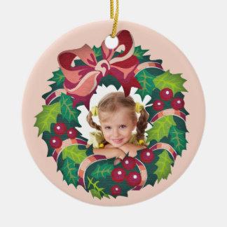 Christmas Ornament Photo Customized Wreath