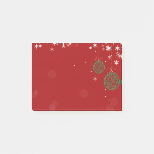 Christmas Ornament Post-it Notes