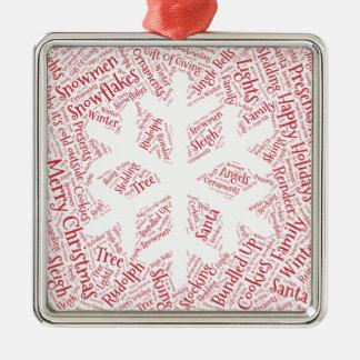 Christmas ornament shaped word cloud snowflake
