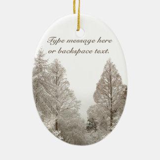 Christmas Ornament Snow Trees Decoration Custom