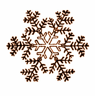 Christmas Ornament Snowflake 2 Orange Cut Outs