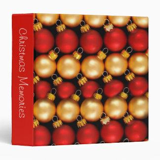 "Christmas Ornaments 1.5"" Photo Album Binders"