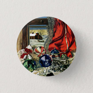 Christmas Ornaments 1 Inch Round Button