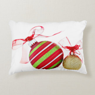 Christmas Ornaments Balls Contemporary Accent Pillow