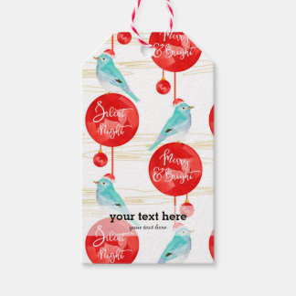 Christmas ornaments & birds gift tags
