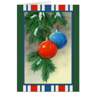 Christmas Ornaments Christmas Card