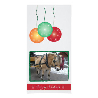 Christmas Ornaments Customizable Photo Card