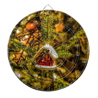 Christmas ornaments dartboard