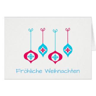 Christmas Ornaments Fröhliche Weihnachten Card