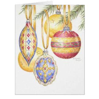 Christmas Ornaments Greeting Card