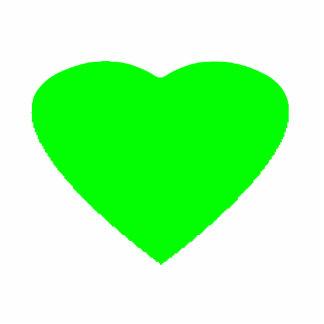 Christmas Ornaments Heart Green Light Photo Sculpture