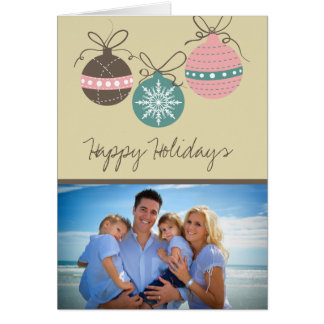 Christmas Ornaments Holiday Folded Card